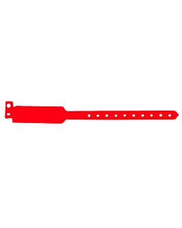 braccialetti non trasferibili 25 cm rosso pvc (100 unitÀ)