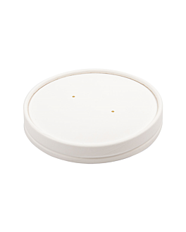 lids for tubs 228.33 510 ml 560 gsm + pe Ø11,5 cm white cardboard (500 unit)
