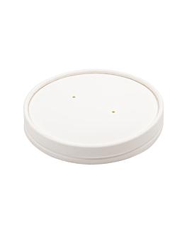 couvercles pour pots 228.33 510 ml 560 g/m2 + pe Ø11,5 cm blanc carton (500 unitÉ)