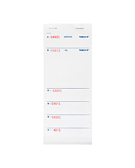 """brasserie"" order pads 6 tickets 10x21 cm white paper (160 unit)"