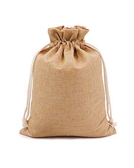 48 u. sacchetti con cordone 15x24 cm naturale iuta (1 unitÀ)