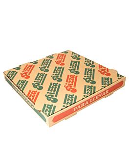 corrugated eco-friendly pizza boxes 350 gsm 29x29x3,5 cm natural cardboard (100 unit)