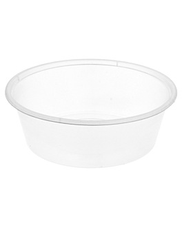 microwaveable containers 225 ml Ø 11,5x3,7 cm clear pp (500 unit)