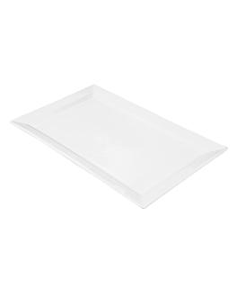 platos rectangulares 45x28 cm blanco porcelana (6 unid.)