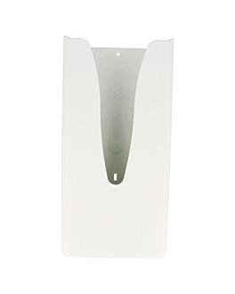 dispenser sacchetti igienici, capacita: 50 u 13,5x5,5x29 cm bianco abs (1 unitÀ)