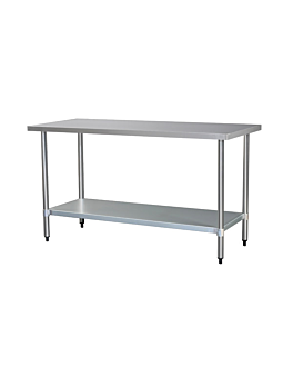 working table 2 levels 160x70 cm silver steel (1 unit)