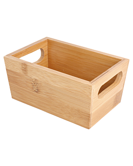 bread box 15x10x7 cm natural bamboo (1 unit)
