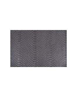 table mats crocodile skin 43x30 cm grey pvc (12 unit)