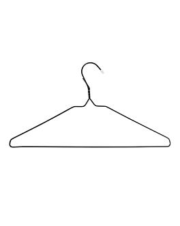 hangers 40,5x21,5 cm black wire (10 unit)