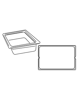 gastronorm pan 1/1 12,5 l 53x32,5x10 cm silver stainless steel (1 unit)