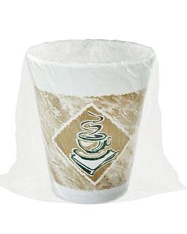 vasos cafÉ envasados individualmente 300 ml Ø 10x10 cm surtido pse (900 unid.)