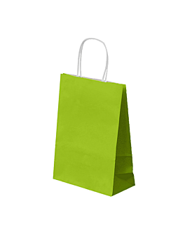 sos bags with handles 80 gsm 20+10x29 cm aniseed green cellulose (250 unit)
