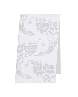 hand towels decorated 50 gsm 30x40 cm white cellulose (900 unit)