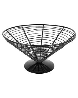 cestoino a cono Ø 23x12,5 cm nero acciaio (1 unitÀ)