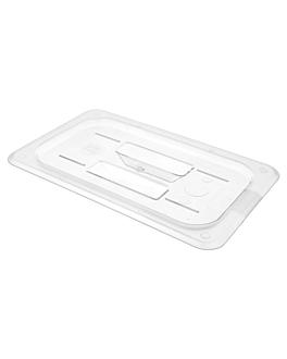 lid 1/4 for item 202.15 26,5x16,2 cm clear polycarbonate (1 unit)