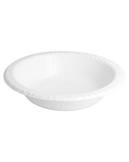 round bio-lacquered bowls 332 gsm Ø 19 cm white cardboard (560 unit)