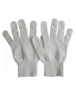 guanti grandi in cotta di maglia antitaglio 25x16 cm bianco dyneema (2 unitÀ)