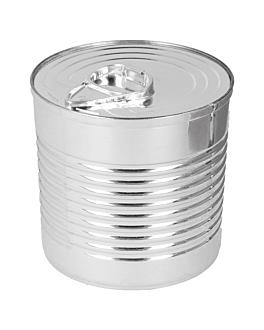 konservendose 220 ml Ø7,4x7,3 cm silberfarben ps (100 einheit)