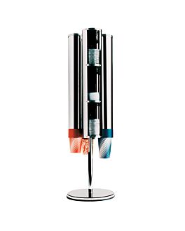 soporte rotativo para 4 tubos (no incluidos) 28x106,68x28 cm cromado inox (1 unid.)