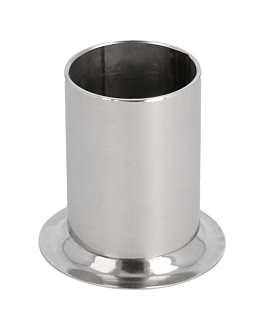 container for toothpick Ø 4,2x3,3 cm silver stainless steel (1 unit)