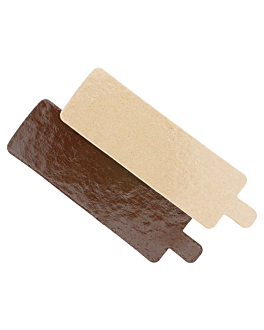 two sides cardboard for patisserie 1100 gsm 4,5x13 cm chocolate/pralinÉ cardboard (200 unit)
