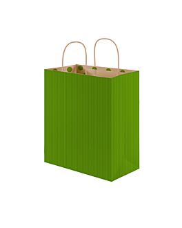 "bolsas sos con asas - int.""topos"" 80 g/m2 20+10x29 cm verde kraft (250 unid.)"