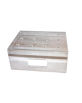 holder for 12 push cake 21x17x9 cm translucent plastic (1 unit)