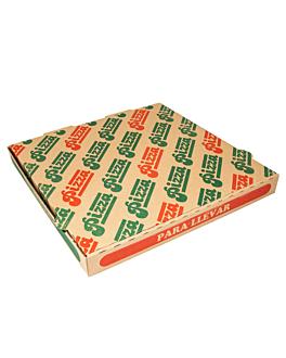 corrugated eco-friendly pizza boxes 350 gsm 32x32x3,5 cm natural cardboard (100 unit)