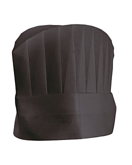 "continental chef's hats ""round top"" 20 cm black airlaid (10 unit)"