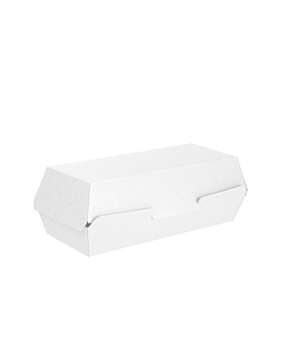 """hot dog"" boxes 'thepack' 230 gsm 23,2x9x6,3 cm white nano-micro corrugated cardboard (450 unit)"