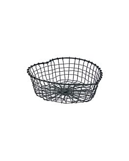 """basket """"big heart"""" 28x27x9 cm noir acier (1 unitÉ)"""
