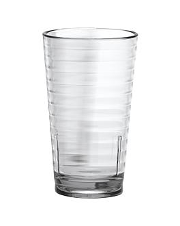 bicchieri con rilievi 400 ml Ø 8x13,5 cm trasparente policarbonato (24 unitÀ)