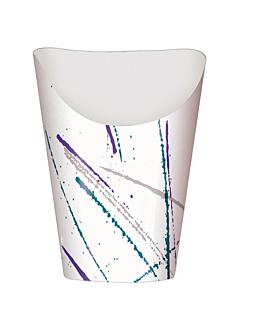 bicchiere per fritti aperto 16 oz - 480 ml 220 + 20pe g/m2 Ø8,5x13,5 cm bianco cartone (1000 unitÀ)