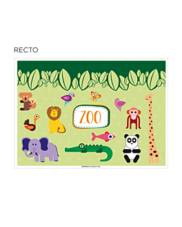 "sets de table coloriage ""zoo"" 100 g/m2 31x43 cm quadrichromie cellulose (1000 unitÉ)"