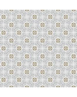 manteles plegado m 'allure' 55 g/m2 100x100 cm blanco airlaid (200 unid.)