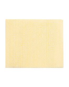 "25 u. wipes ""super perfokleen"" 80 gsm 36x42,5 cm pale yellow viscose (1 unit)"