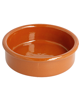 crockery containers for appetisers 150 ml Ø 10,5x2,5 cm reddish brown ceramic (50 unit)