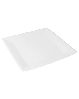 square plates 245 gsm 23x23 cm white cardboard (400 unit)