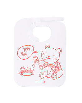 children bibs 50 gsm + pe 23x31 cm white airlaid (100 unit)