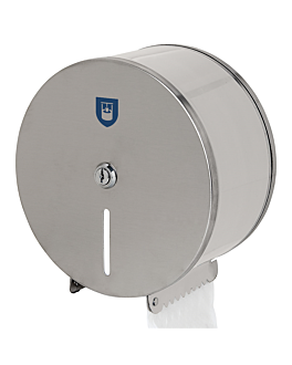 toilet dispenser 'baby jumbo' Ø 21,7x12 cm silver stainless steel (1 unit)