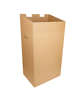 recycle bin 75 l 37,3x27,3x72 cm brown cardboard (10 unit)