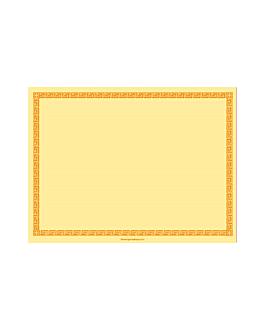sets de table 60 g/m2 30x40 cm jaune pale dry tissue (800 unitÉ)