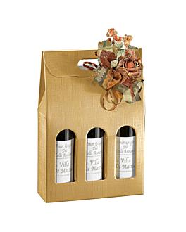 30 u. boÎtes 3 bouteilles 'el dorado' 27x9x34 cm or carton (1 unitÉ)