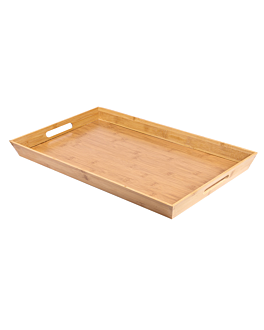 tray 53x32x4,5 cm natural bamboo (1 unit)