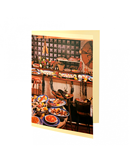 """carta 2 cuerpos """"frutos de mar"""" 48x33 cm surtido cartoncillo (1 unid.)"""