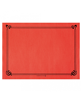 table mats 48 gsm 31x43 cm red cellulose (2000 unit)