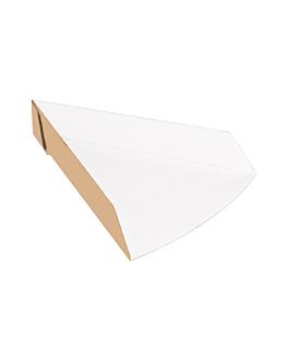 vaschette triangolare pizza 'thepack' 220 g/m2 21x16,5x3,5 cm naturale cartone ondulato a nano-micro (1200 unitÀ)