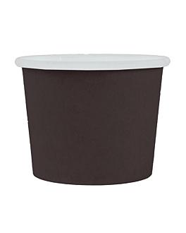 pequeÑas tarrinas 60 ml 210 + 18 pe g/m2 Ø6,15/4,75x4,8 cm negro cartoncillo (1000 unid.)