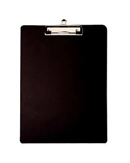 clipboard for order pads 12x18 cm black pp (12 unit)