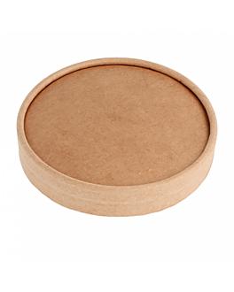 tapas tarrinas helados 120 ml 280 + 18 pe g/m2 Ø7,7 cm marrÓn cartoncillo (1000 unid.)